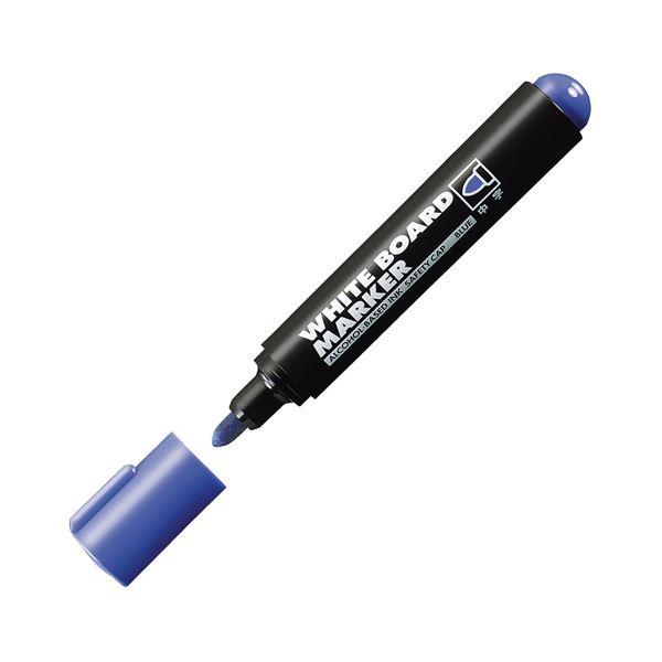 (まとめ) コクヨ ホワイトボード用マーカーペン 中字 青 業務用パック PM-B102NB 1箱(10本) 【×10セット】 白