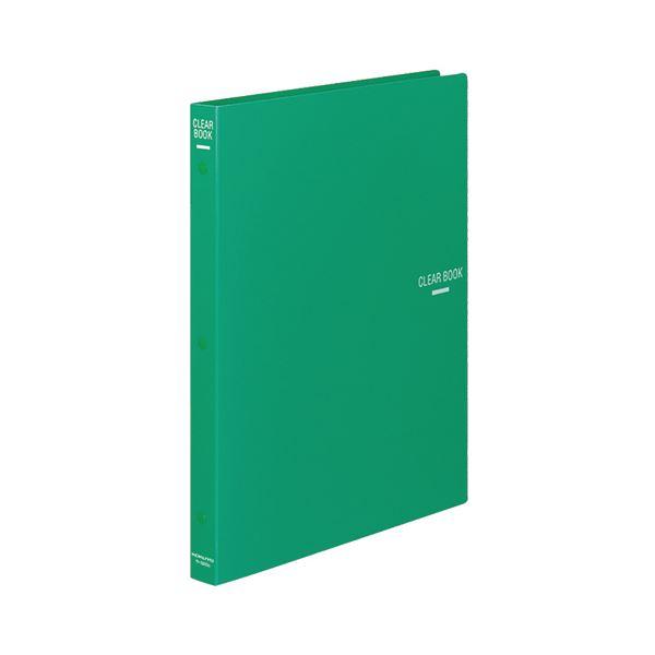 (まとめ) コクヨ クリヤーブック(クリアブック)(替紙式) A4タテ 30穴 18ポケット付属 背幅27mm 緑 ラ-320G 1冊 【×10セット】
