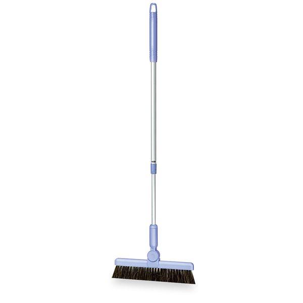 (まとめ) ほうき/掃除用品 【伸縮柄 アクアブルー 26cm】 最長:約102cm BM-2ホーキ26 〔業務用 施設 店舗〕 【×5セット】 青