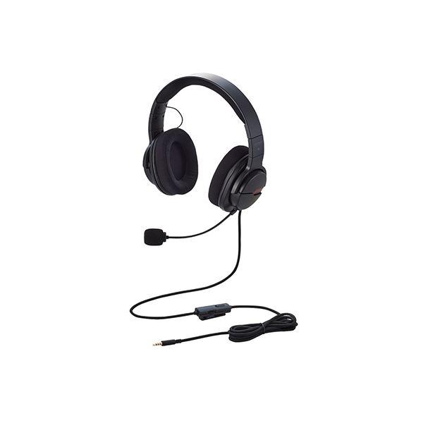 エレコム ゲーミングヘッドセット ARMA オーバーヘッド ブラック HS-ARMA100BK 黒