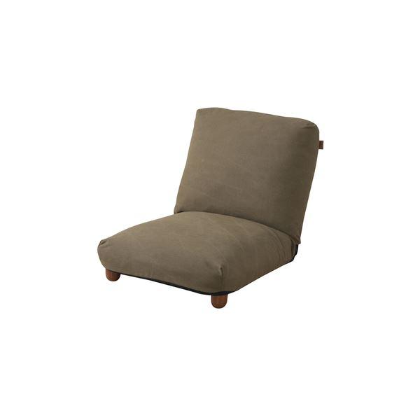 シンプル 座椅子 (イス チェア) /フロアチェア (イス 椅子) 【RKC-940GR グリーン】 幅50cm 木製 金属 スチール コットン 『リクライナー』 〔リビング〕 緑