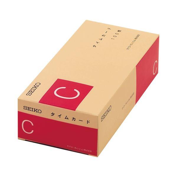 (まとめ) セイコープレシジョン セイコー用タイムカード 全締日対応 日付印字なし Cカ-ド 1パック(100枚) 【×5セット】