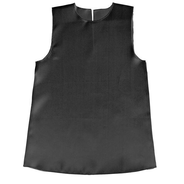 (まとめ)ソフトサテンワンピース Jサイズ(約70cm) 黒 【×10個セット】