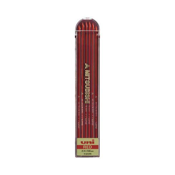 (まとめ) 三菱鉛筆 ユニホルダー替芯 2.0mm赤 ULN.15 1個(6本) 【×30セット】