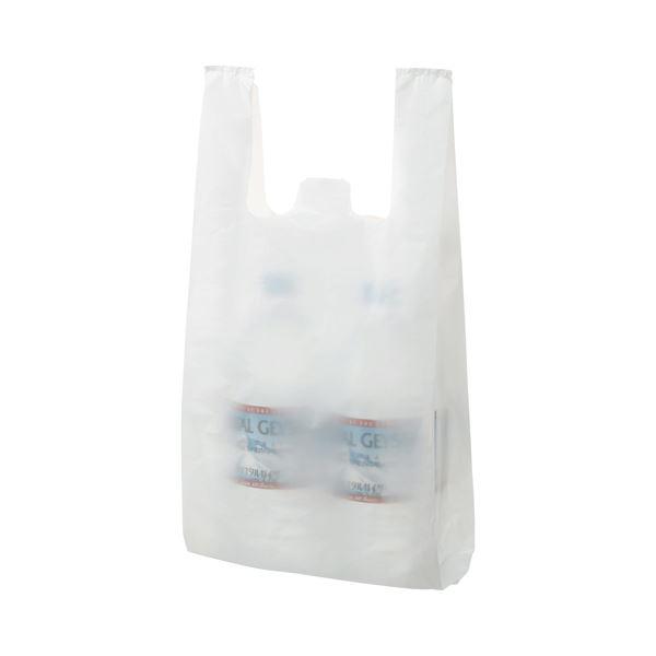 (まとめ) TANOSEE 乳白レジ袋 20号 ヨコ215×タテ450×マチ幅125mm 1パック(100枚) 【×30セット】
