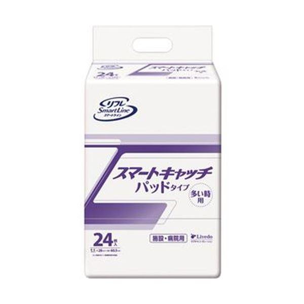 (まとめ)リブドゥコーポレーション リフレスマートキャッチ パッドタイプ 多い時 1パック(24枚)【×10セット】