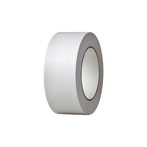 (まとめ) TANOSEE クラフトテープ 重ね貼可能 50mm×50m 白 1巻 【×30セット】