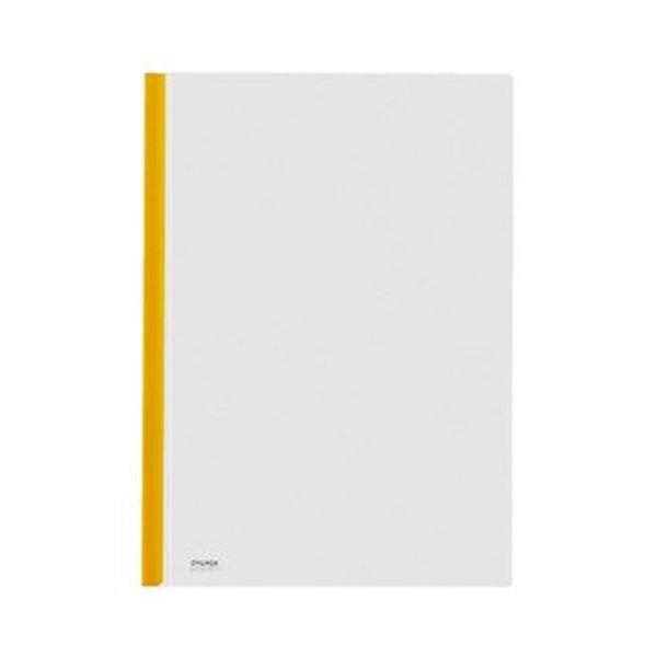 (まとめ)コクヨ カラーレールクリヤーホルダーA4タテ 20枚収容 黄 フ-760NY 1セット(20冊)【×5セット】