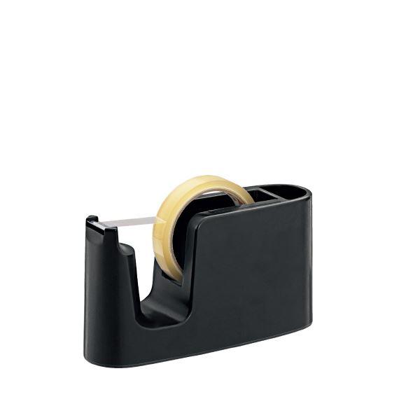 (まとめ)プラス テープカッター ブラック TC-401【×10セット】 黒