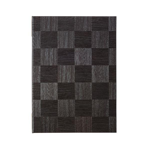 (まとめ) シンビ メニューブック 市松柄 黒LS-111クロ 1冊 【×5セット】