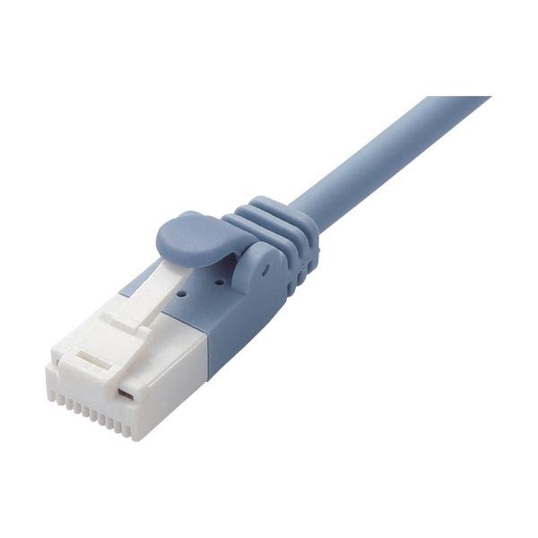 (まとめ) ツメ折れ防止やわらかLANケーブル 配線 Cat6A準拠 ブルー 1.5m LD-GPAYT/BU15 1本 【×10セット】 青