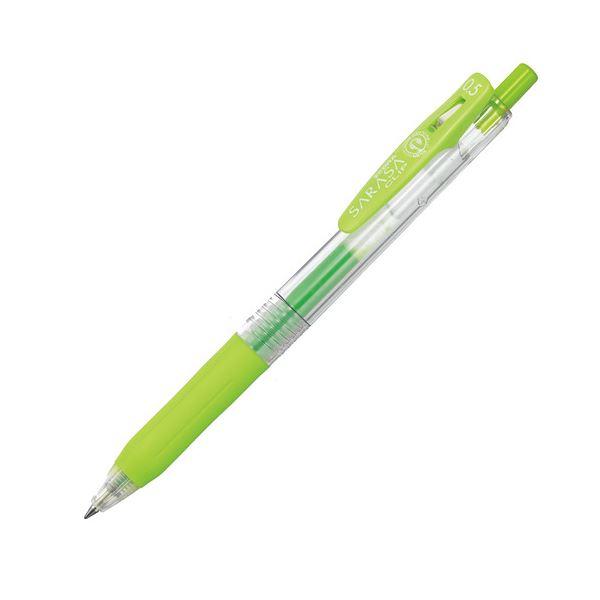 (まとめ) ゼブラ ゲルインクボールペン サラサクリップ 0.5mm ライトグリーン JJ15-LG 1本 【×100セット】 緑