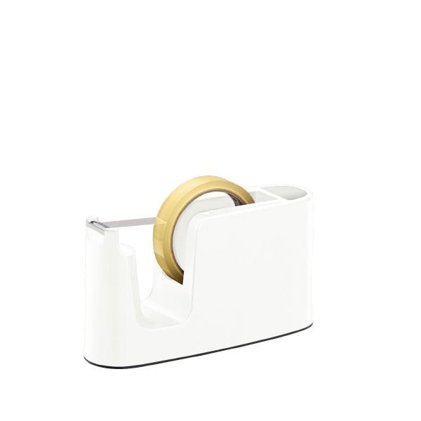 (まとめ)プラス テープカッター ホワイト TC-401【×10セット】 白
