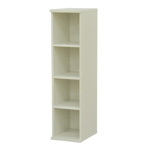 カラーボックス(整理 収納 棚/カスタマイズ家具) 4段 幅30×高さ120.3cm セレクト1230WH ホワイト 白