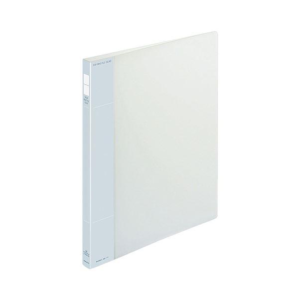 (まとめ) コクヨ ポップリングファイル(スリム) A4タテ 2穴 100枚収容 背幅21mm 透明 フ-PS410T 1冊 【×30セット】