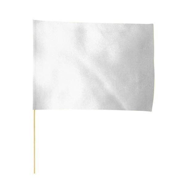 (まとめ)サテン大旗 シルバー φ12mm 【×10個セット】