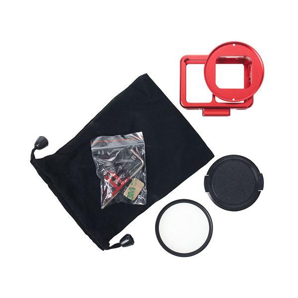 衝撃から護る GoPro HERO7対応メタル製のプロテクターカバー エツミ HERO7対応 VE-2223 全国どこでも送料無料 レッド 推奨 アクションメタルプロテクターカバー 赤