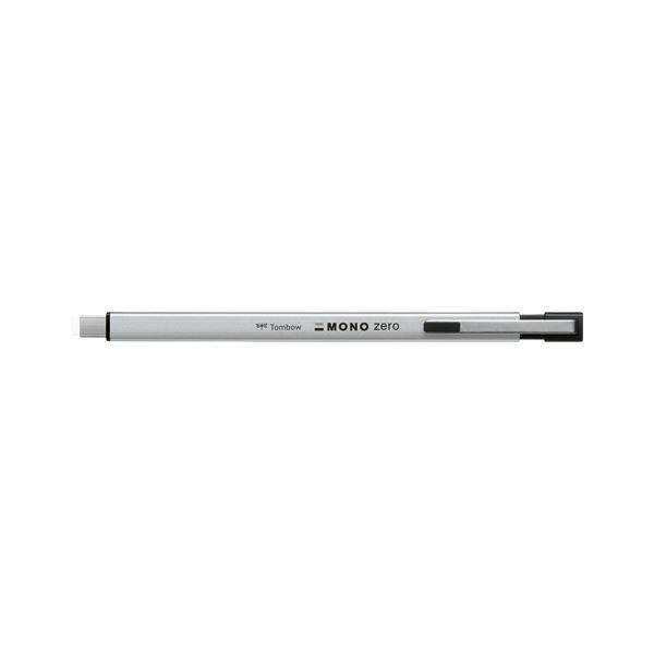 (まとめ) トンボ鉛筆 ホルダー消しゴム モノゼロメタル 角型 シルバー【×20セット】
