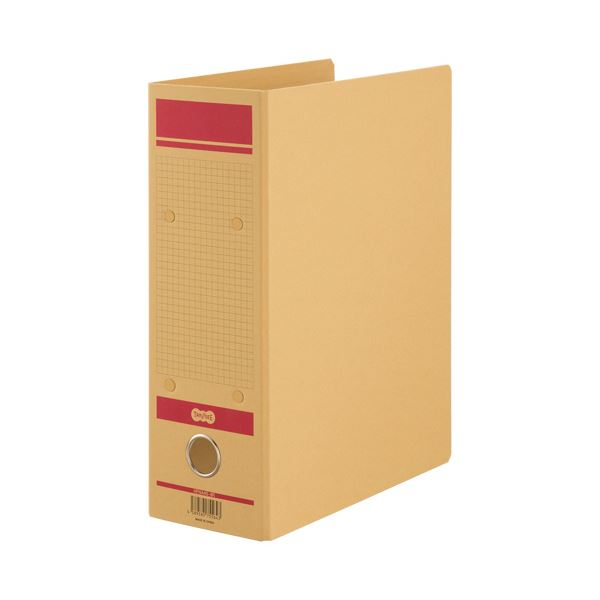 TANOSEE保存用ファイルN(片開き) A4タテ 800枚収容 80mmとじ 赤 1セット(24冊)