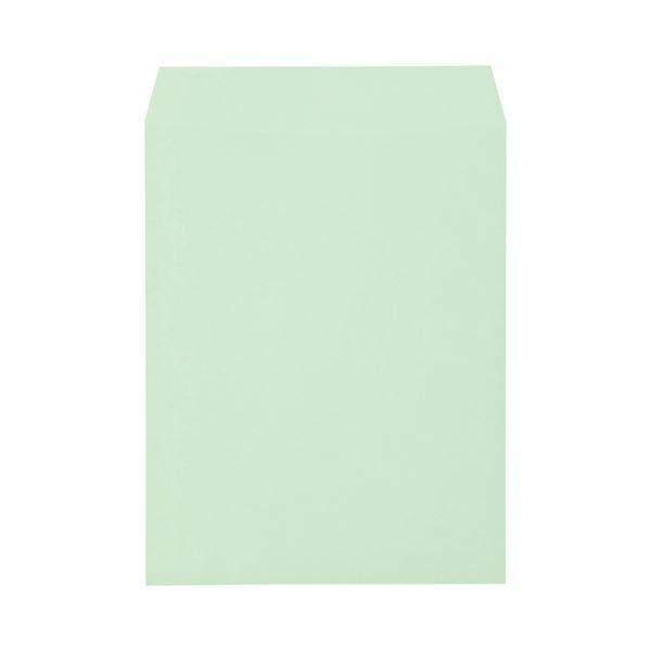 (まとめ) キングコーポレーション ソフトカラー封筒 角3 100g/m2 グリーン K3S100GE 1パック(100枚) 【×10セット】 緑