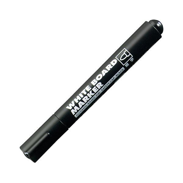 (まとめ) コクヨ ホワイトボード用マーカーペン 細字 黒 業務用パック PM-B101ND 1箱(10本) 【×10セット】 白
