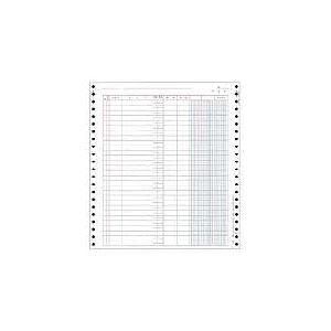 OBC バインダー元帳 Y10×T11連続用紙 3410 1箱(1000枚)