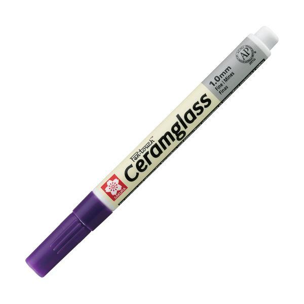 (まとめ) サクラクレパス セラムグラス 細字 紫GKS-P#24 1本 【×30セット】