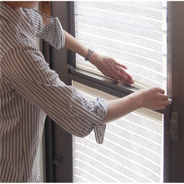 遮光シート/日よけシート 【遮光率約75% 室内窓貼り用 約90×200cm】 日本製 洗える 『スリムホワイト 75』 白