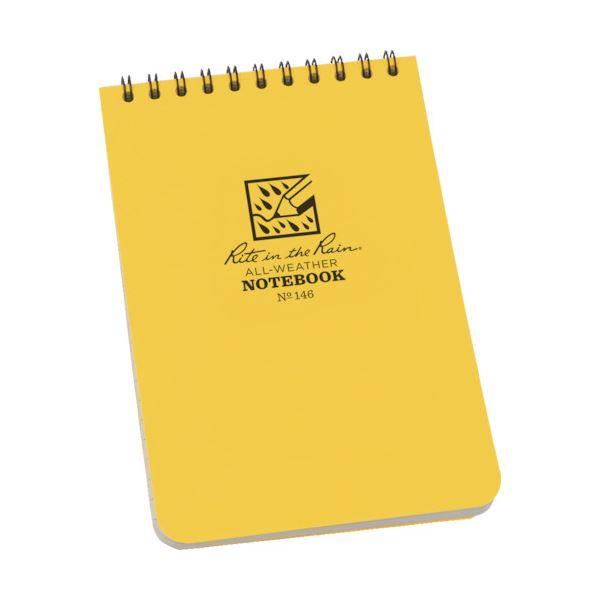 (まとめ) ライトインザレイン トップスパイラルノートブック ユニバーサル イエロー 146 1冊 【×10セット】 黄