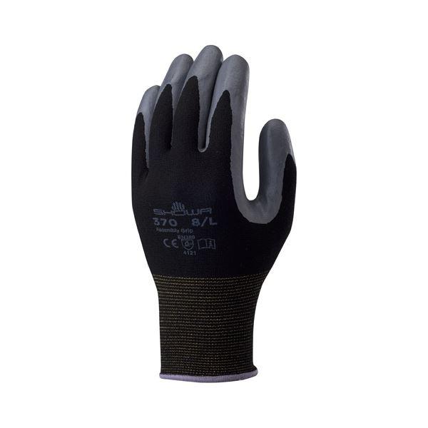 ブラック 黒 スポーツ レジャー DIY 工具 軍手 (まとめ)ショーワグローブ 組立グリップ3双 L/ブラック【×30セット】 黒