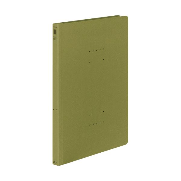 (まとめ) コクヨ フラットファイル(NEOS)A4タテ 150枚収容 背幅18mm オリーブグリーン フ-NE10DG 1セット(10冊) 【×30セット】 緑