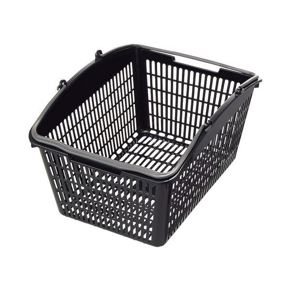 (まとめ)スーパーメイト ショッピングバスケット16L ブラック・ダークグレー PB-16BG 1個【×10セット】 黒