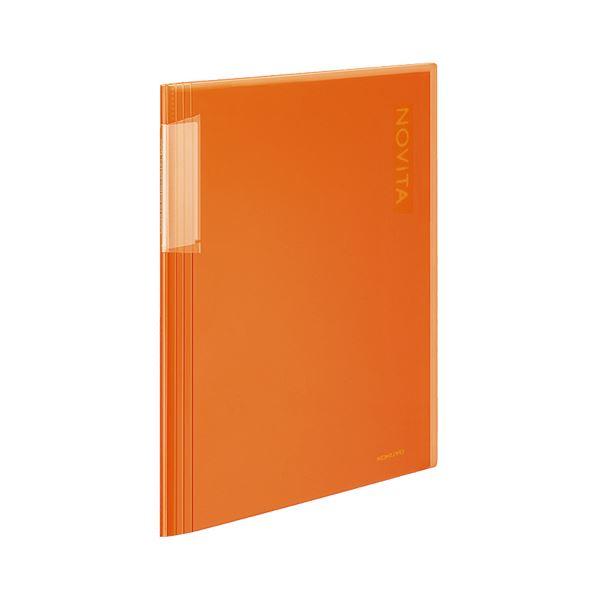 (まとめ)コクヨ クリヤーブック(ノビータ)固定式 A4タテ 20ポケット 背幅5~40mm オレンジ ラ-N20YR 1冊 【×20セット】