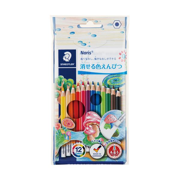 (まとめ) ステッドラー ノリスクラブ 消せる色鉛筆12色 144 50NC 1セット 【×30セット】