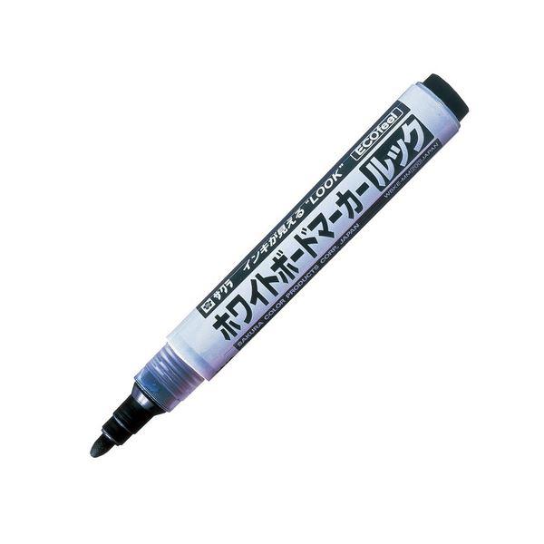 (まとめ) サクラクレパス ホワイトボードマーカールック エコフィール 黒 WBKE-MM#49 1本 【×50セット】 白