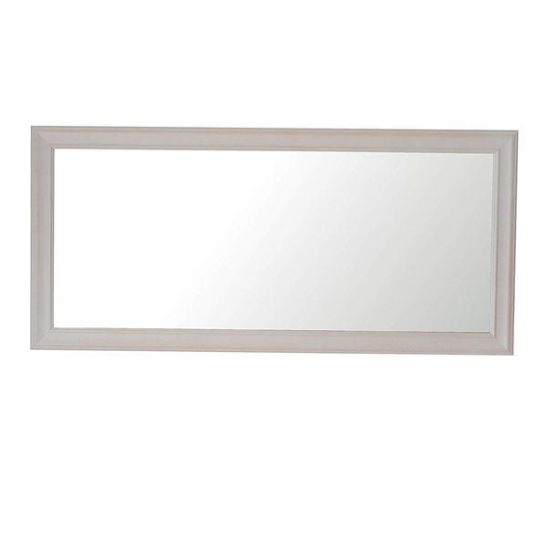 クラスウォールミラー W49×107cm 長方形壁掛け ウッディーホワイト 白