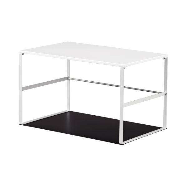 (まとめ) リヒトラブ 机 テーブル 下台 W520×D350×H317mm 白 A-7360-0 1台 【×5セット】