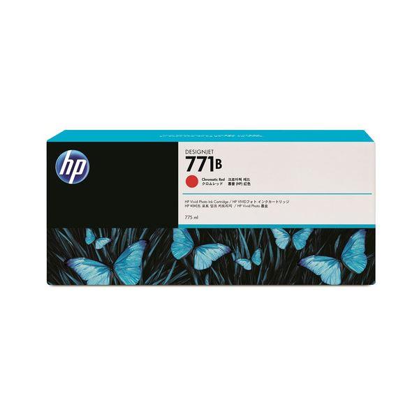 (まとめ) HP771B インクカートリッジ クロムレッド 775ml 顔料系 B6Y00A 1個 【×10セット】 赤