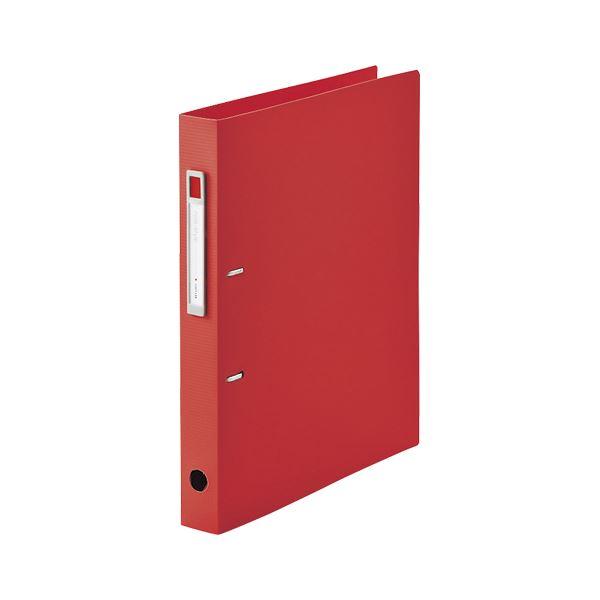 (まとめ) LIHIT LAB noie-style D型リングファイルA4 レッド【×20セット】 赤
