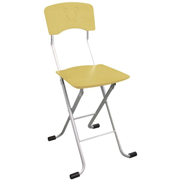 折りたたみ椅子 (イス チェア) 【2脚セット ナチュラル×シルバー】 幅40cm 日本製 国産 金属 スチール パイプ 『レイラチェア (イス 椅子) 』