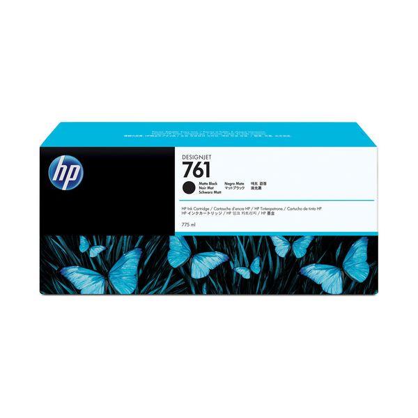 (まとめ) HP761 インクカートリッジ マットブラック 775ml 顔料系 CM997A 1個 【×10セット】 黒