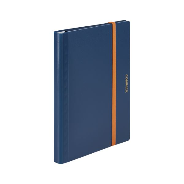 (まとめ) キングジム 二つ折りクリアーファイル コンパック A4 10P ネイビー【×20セット】