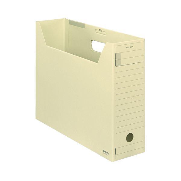 (まとめ)コクヨファイルボックス-FS(Fタイプ) B4ヨコ 背幅102mm 黄 フタ付 B4-LFFN-Y 1セット(5冊) 【×3セット】