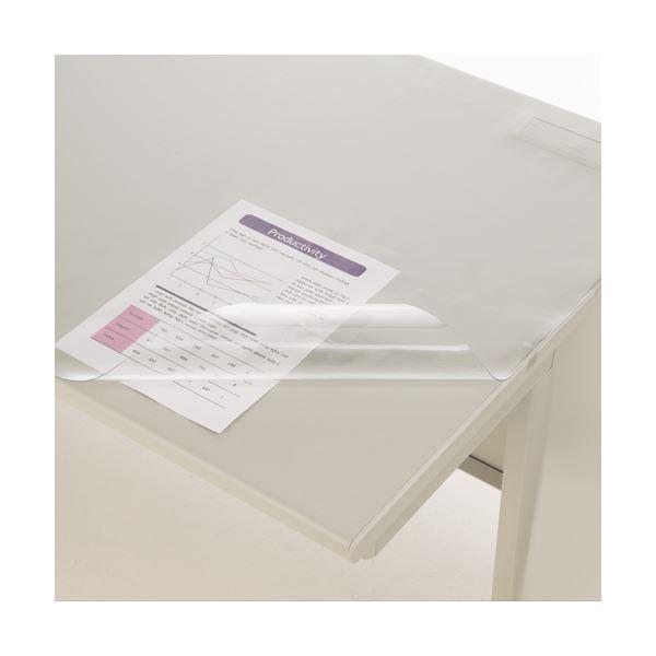 (まとめ) ライオン事務器 デスク (テーブル 机) マット PVC製光沢仕上 シングル 1095×695×0.8mm No.117-SE 1枚 【×10セット】