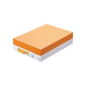 (まとめ) TANOSEE αエコカラーペーパーII B4 オレンジ 1冊(500枚) 【×10セット】