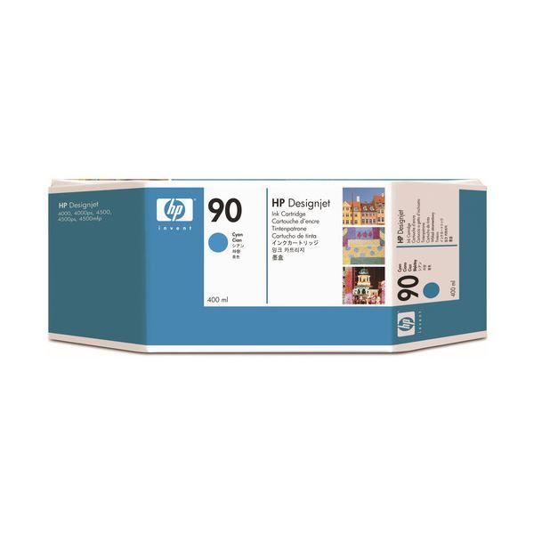 (まとめ) HP90 インクカートリッジ シアン 400ml 染料系 C5061A 1個 【×10セット】
