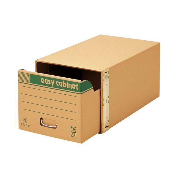 (まとめ) ゼネラル イージーキャビネット 整理 収納 シェルフ 戸棚 エコ普及型 金具脱着式 A4用 内寸W314×D560×H259mm EC-001 1個 【×5セット】
