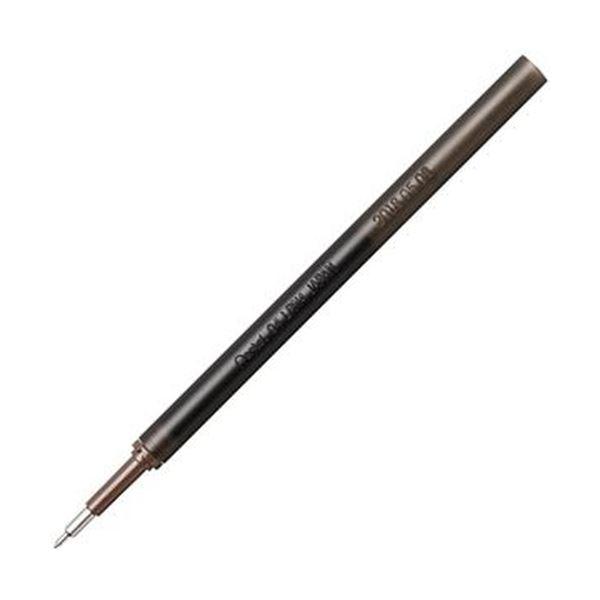 (まとめ)ぺんてる ゲルインキボールペン ノック式エナージェル インフリー 替芯 0.4mm ブラック XLRN4TL-A 1セット(10本)【×20セット】 黒