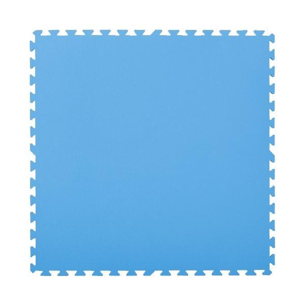 マスセットやわらかEVAマット2枚組(防炎)ブルー 青