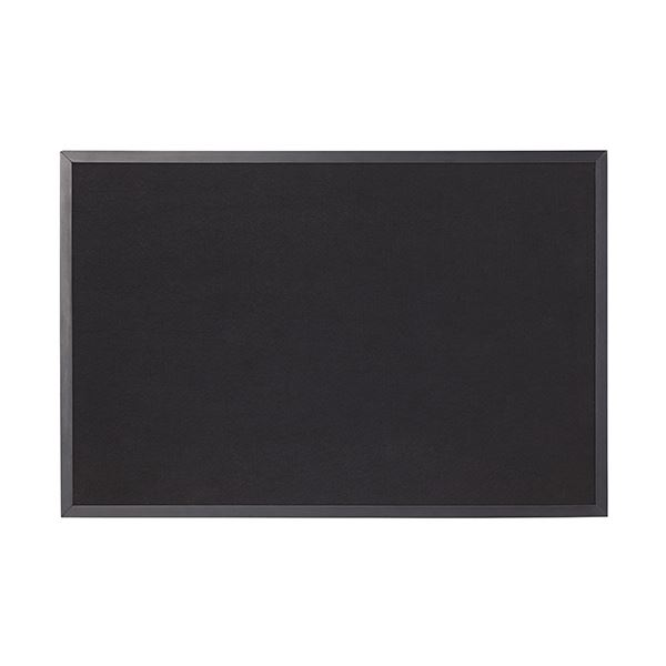 (まとめ)ワールドクラフト ブラックフェルトボード900×600mm BFB6090 1枚【×3セット】 黒
